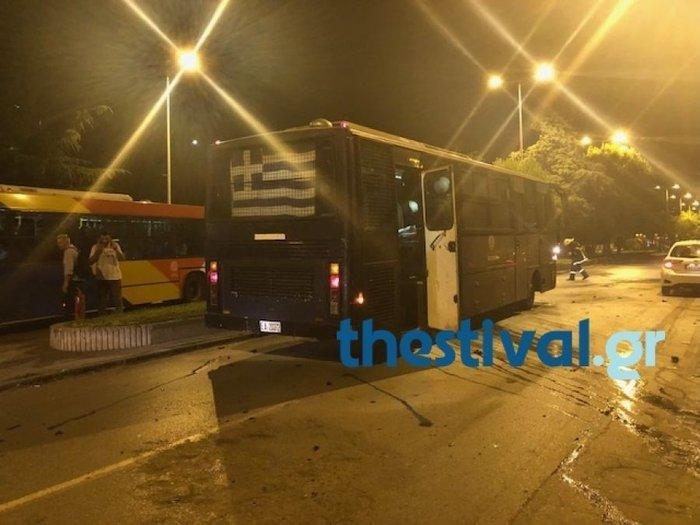 Ανάληψη ευθύνης για την επίθεση σε κλούβα ΜΑΤ στη Θεσσαλονίκη