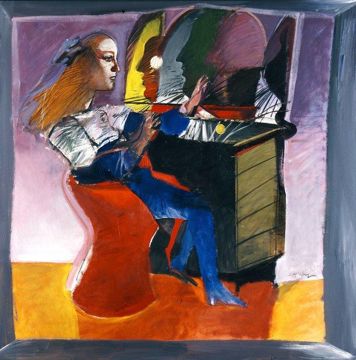 Ο καθρέφτης, 1990 Ακρυλικό σε καμβά 183 Χ 183 εκ.