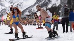 Σκι στο χιόνι με μαγιό και η ανεξερεύνητη για τους Ρώσους Ελλάδα