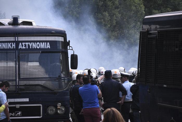 Επεισοδιακό συλλαλητήριο στο Πισοδέρι κατά της συμφωνίας