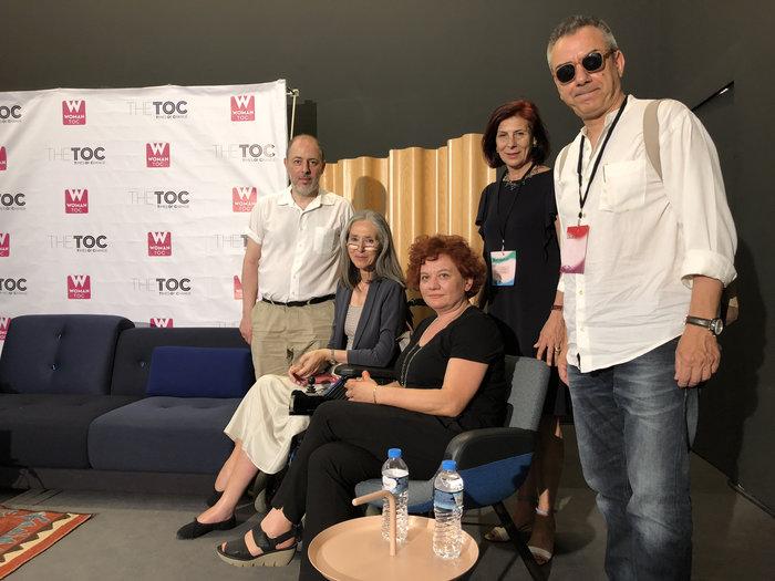 Φίλιππος Τσαλαχούρης, ΄Αννα Καφέτση, Συραγώ Τσιάρα, Γιάννα Γραμματοπούλου (οργανώτρια Art Athina), Νίκος Διαμαντής