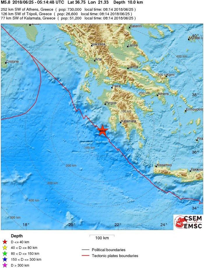 Ισχυρός σεισμός 5,3 Ρίχτερ δυτικά της Πύλου - εικόνα 2