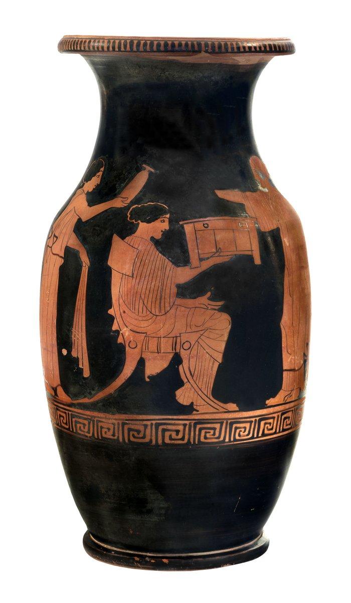 Ερυθρόμορφη όλπη από το Μόδι Λοκρίδας (περ. 440 π.Χ.), © ΕΑΜ/ΤΑΠ. Φωτ. Σ. Μαυρομμάτης.