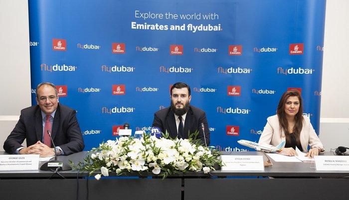 Γιώργος Βήλος της Fraport Jeyhun Efendi της flydubai Reema Al Marzooqi της Emirates
