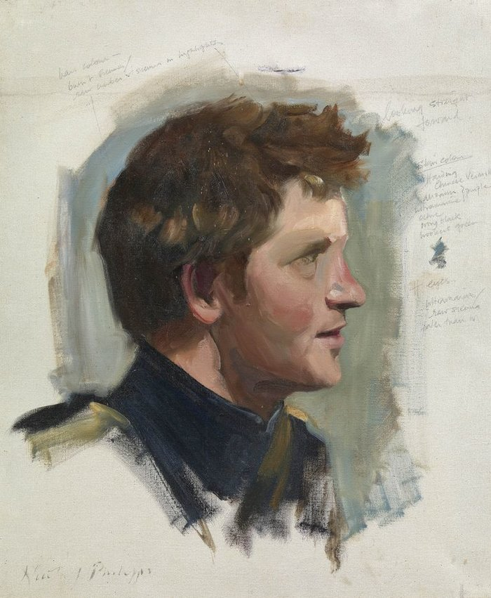 Nicky Philipps, Preparatory sketch of Prince Harry, 2009Royal Collection Trust