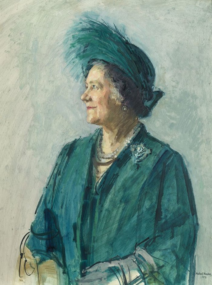 Michael Noakes, Queen Elizabeth The Queen Mother, 1973Royal Collection Trust