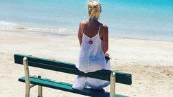 """""""Τρολάρισμα"""" στην Ελένη Μενεγάκη: Πού το βρήκες το παγκάκι στις Μπαχάμες"""
