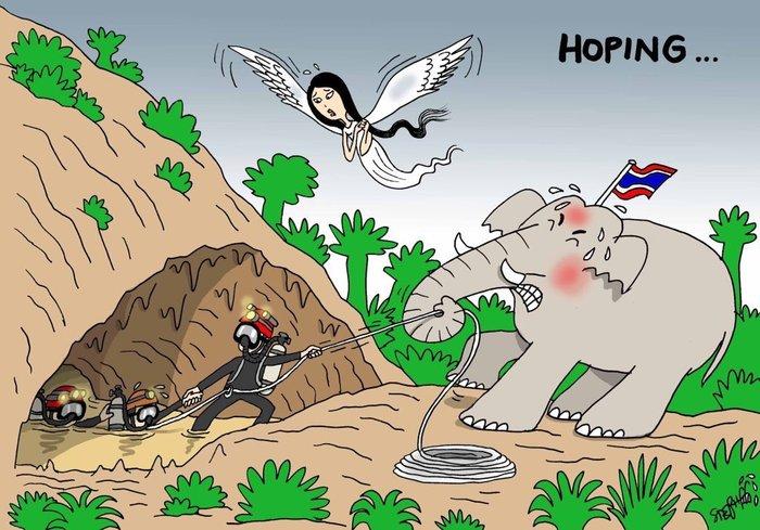 Τα συγκλονιστικά σκίτσα για τα παγιδευμένα παιδιά στην Ταϊλάνδη