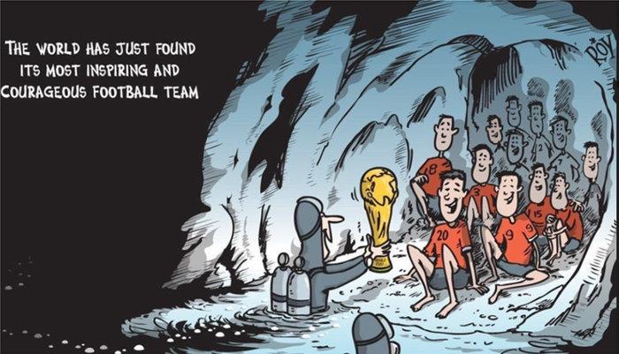 Τα συγκλονιστικά σκίτσα για τα παγιδευμένα παιδιά στην Ταϊλάνδη - εικόνα 3