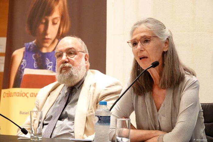 Η διευθύντρια του annex-M Αννα Καφέτση κι ο Πρόεδρος του ΟΜΜΑ, Νίκος Θεοχαράκης, στη συνέντευξη τύπου Αννα Καφετση και