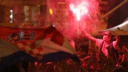 «Κάηκε» το Ζάγκρεμπ μετά την ιστορική πρόκριση της Κροατίας