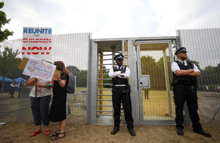 Διαδήλωση στο Λονδίνο κατά της επίσκεψης Τραμπ Εικόνες