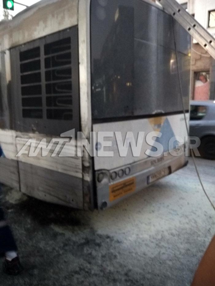 Λεωφορείο με επιβάτες πήρε φωτιά  στην Κηφισίας εν κινήσει