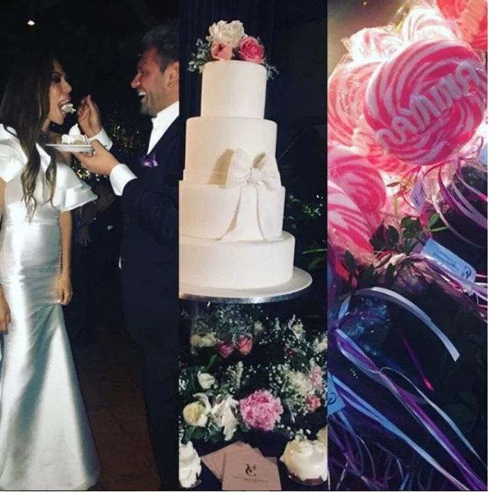 Γάμος Σρόιτερ - Μπούκη: Η τούρτα, ο στολισμός και όμορφες μπομπονιέρες - εικόνα 3