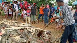 Πλήθος σκότωσε 300 κροκόδειλους για να εκδικηθεί τον θάνατο συγχωριανού του
