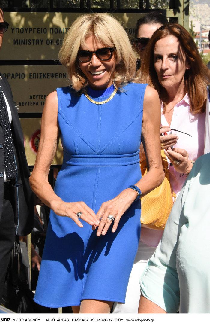 Μπριζίτ Μακρόν:Άρωμα Ελλάδας στο φόρεμα με το οποίο πανηγύρισε το Μουντιάλ - εικόνα 5