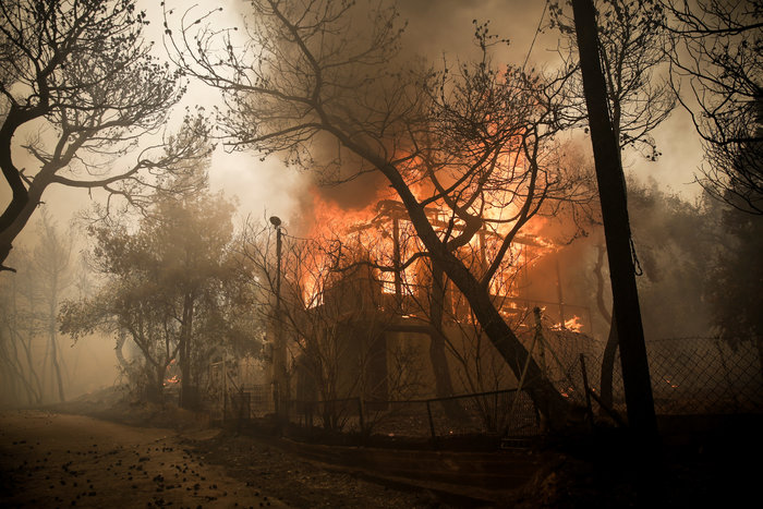 Μεγάλη φωτιά στην Κινέτα: Τέσσερα μέτωπα σε μήκος 6 χλμ - εικόνα 11
