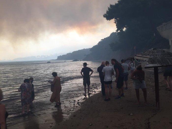 Σκηνές αποκάλυψης στις παραλίες της Ραφήνας με τη φωτιά - εικόνα 5
