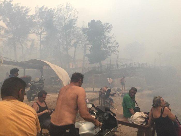 Σκηνές αποκάλυψης στις παραλίες της Ραφήνας με τη φωτιά - εικόνα 7
