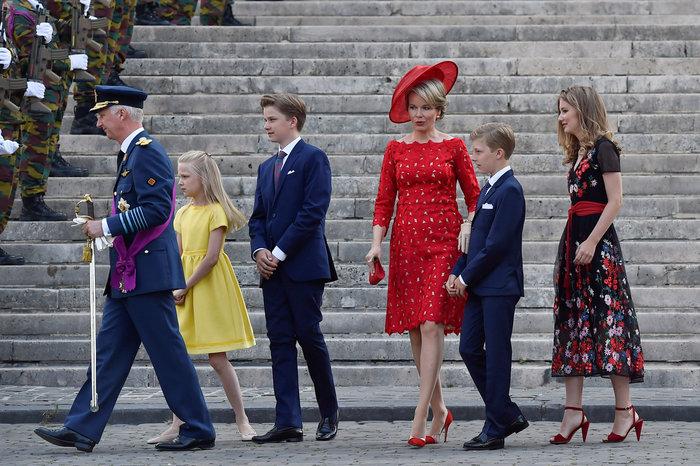 Royal Chic: Η όχι τυχαία εμφάνιση της βασιλικής οικογένειας του Βελγίου - εικόνα 4