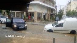 Πλημμύρες σε Θεσσαλονίκη και Πολύγυρο