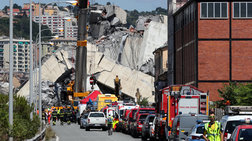 Άλλες 3 σοροί στα ερείπια της φονικής γέφυρας στη Γένοβα
