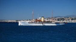"""Το ιστορικό ατμόπλοιο """"SS Delphine"""" στην Κεφαλονιά [βίντεο]"""