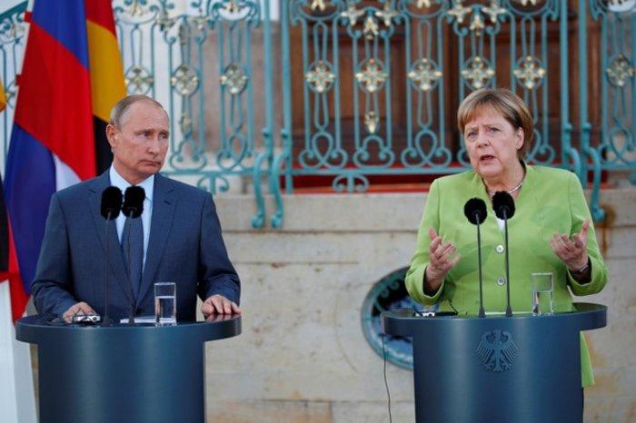 Μέρκελ-Πούτιν: «Καλή θέλησή» για την επίλυση των διενέξεων