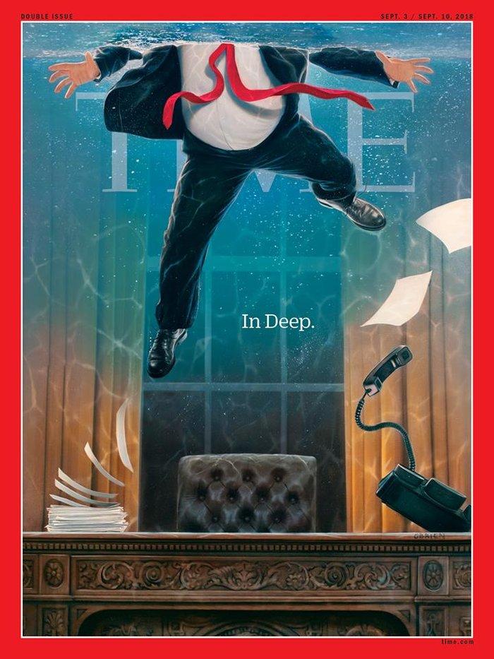 Το νέο εντυπωσιακό εξώφυλλο του Time για τον πρόεδρο Τραμπ