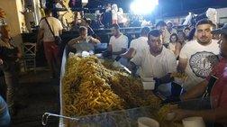 Ρεκόρ Γκίνες στη Νάξο: Σέρβιραν 625 κιλά τηγανητής πατάτας
