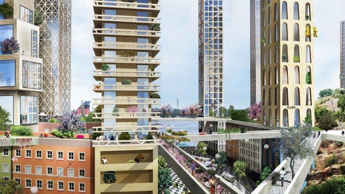 Οι πρώτοι ξύλινοι ουρανοξύστες μεταμορφώνουν τη Στοκχόλμη - εικόνα 3