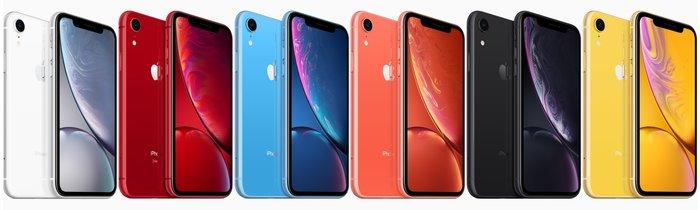 Τα iPhone XR σε έξι χρώματα