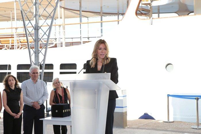 Η κ. Μαριάννα Λάτση εκφώνησε μια βαθιά συγκινητική ομιλία. Φωτογραφία: STUDIO PANOULIS