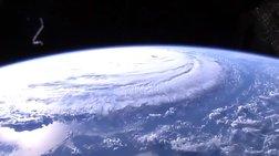 Ο κυκλώνας Φλόρενς από τον Διεθνή Διαστημικό Σταθμό