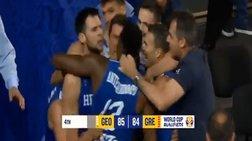 Με αυτό το καλάθι η Εθνική νίκησε στη λήξη του αγώνα τη Γεωργία (βίντεο)