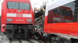 Σφοδρή σύγκρουση τρένου με λεωφορείο στην Αυστρία