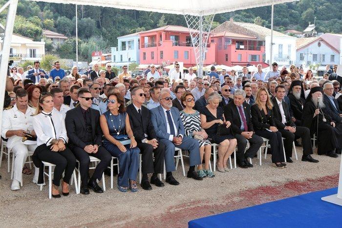 Στιγμιότυπο από τις θέσεις των επισήμων κατά τη διάρκεια της εκφώνησης των ομιλών. Φωτογραφία: STUDIO PANOULIS