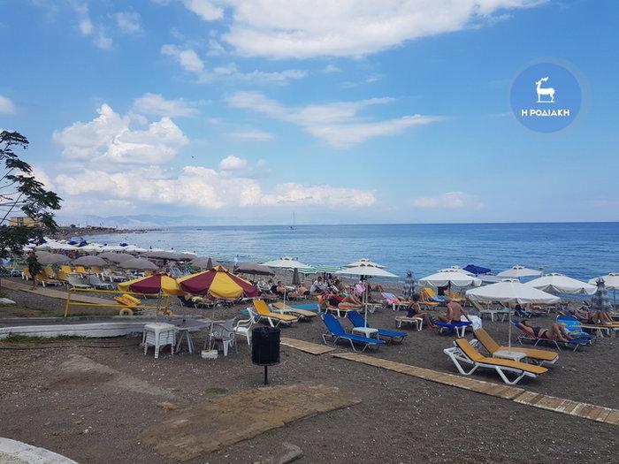 Ζορμπάς ήταν και πέρασε: Γέμισαν οι παραλίες της Ρόδου