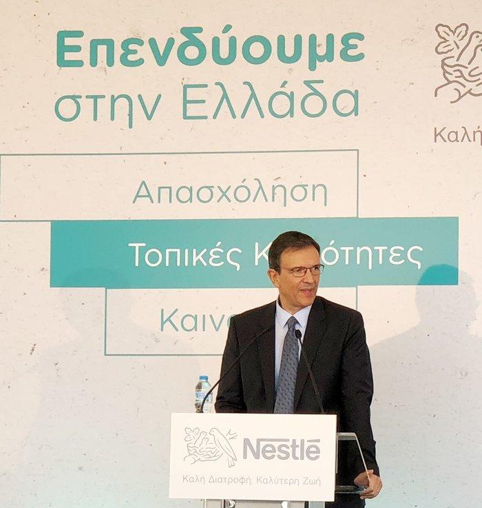 ο Πρόεδρος και Διευθύνων Σύμβουλος της Nestle Ελλάς, Νίκος Εμμανουηλίδης