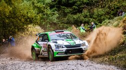 Η SKODA Fabia R5 πρώτη στην WRC 2 και στα δάση της Ουαλίας