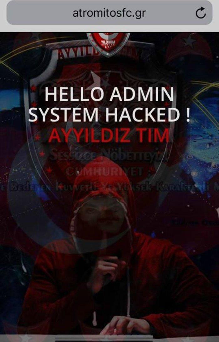 Τούρκος χάκερ χτύπησε τον Ατρόμητο Περιστερίου