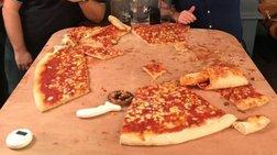 Viral: Μπορείς να φας μια πίτσα με διάμετρο ένα μέτρο; -vid