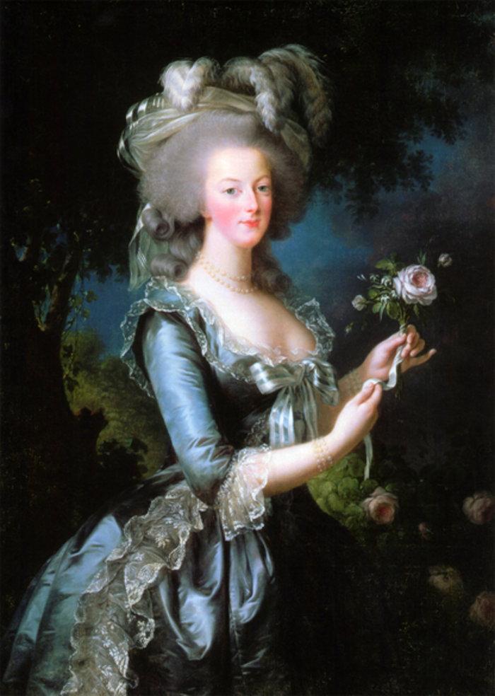 Marie Antoinette with a Rose, 1783, Louise Élisabeth Vigée Le Brun, Wikipedia