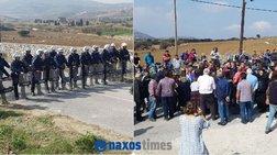 Νάξος: Σύγκρουση αγροτών και αστυνομίας για έργο υδροδότησης