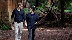 Ο Χάρι φωτογράφησε την Μέγκαν στο δάσος: Κρατά τρυφερά την κοιλιά της