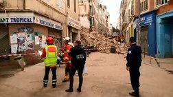 Κατέρρευσε κτίριο στην Μασσαλία (βίντεο)