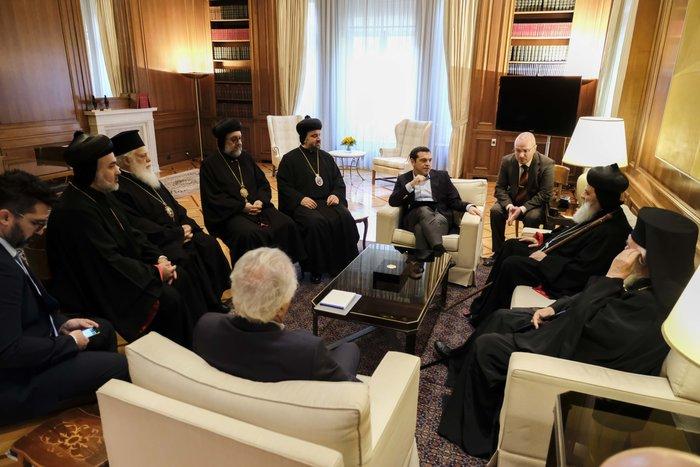 Συνάντηση Τσίπρα-Ιερώνυμου με τον Πατριάρχη Αντιόχειας