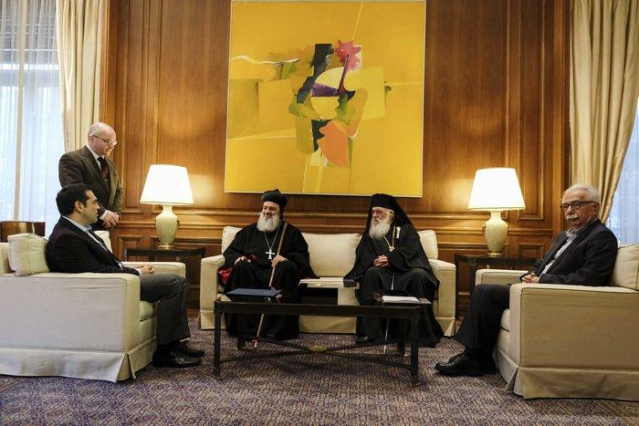 Συνάντηση Τσίπρα-Ιερώνυμου με τον Πατριάρχη Αντιόχειας - εικόνα 2