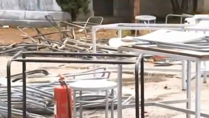 Εικόνες καταστροφής σε Πολυτεχνείο και ΑΠΘ-Βίντεο