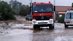 Προβλήματα στη Λέσβο από την έντονη βροχόπτωση